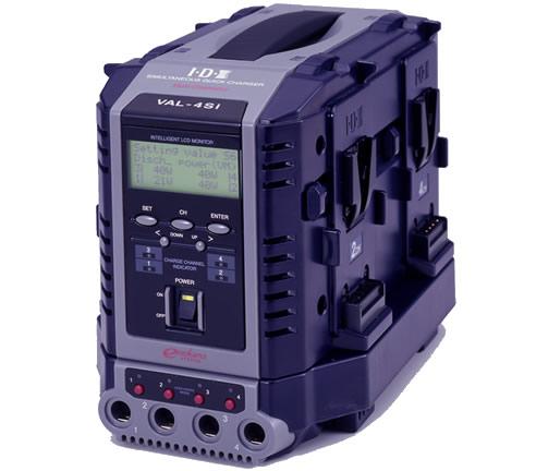 画像1: IDX/アイディーエクス 液晶表示機能付4チャンネル同時急速充電器 (1)