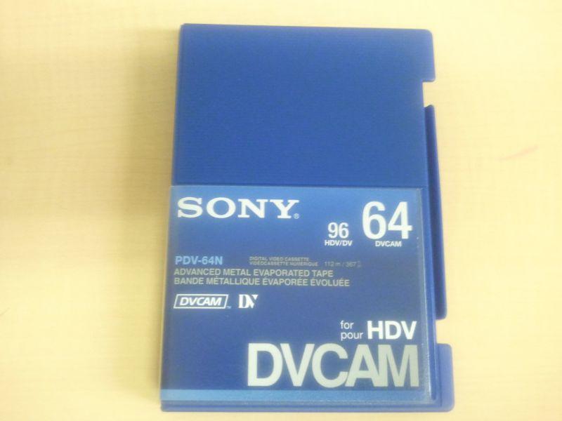 画像1: SONY/ソニー DVCAM テープ 64分 メモリーなし 1本 (1)