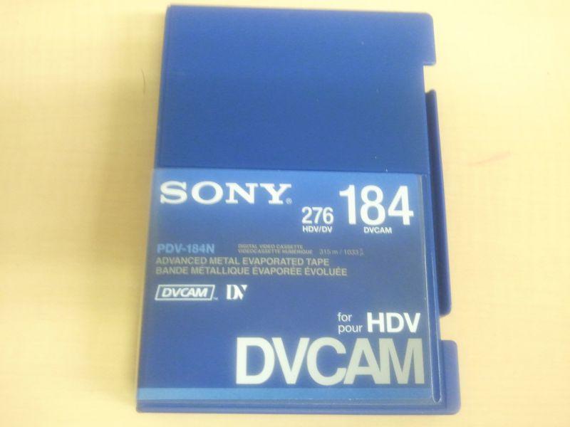 画像1: SONY/ソニー DVCAM テープ 184分 メモリーなし 1本 (1)