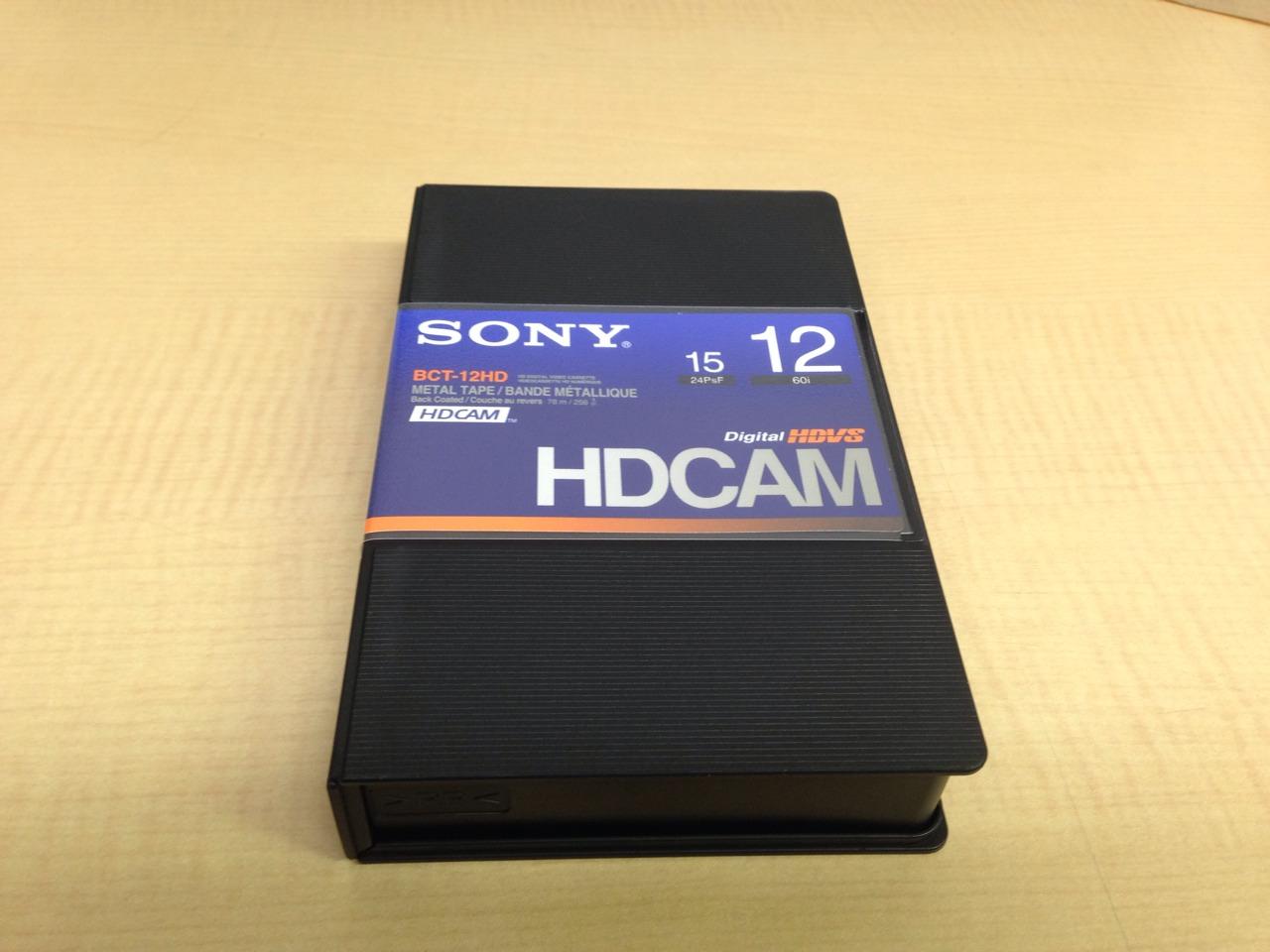 画像1: SONY/ソニー HDCAM スモールカセット12分 1本 (1)