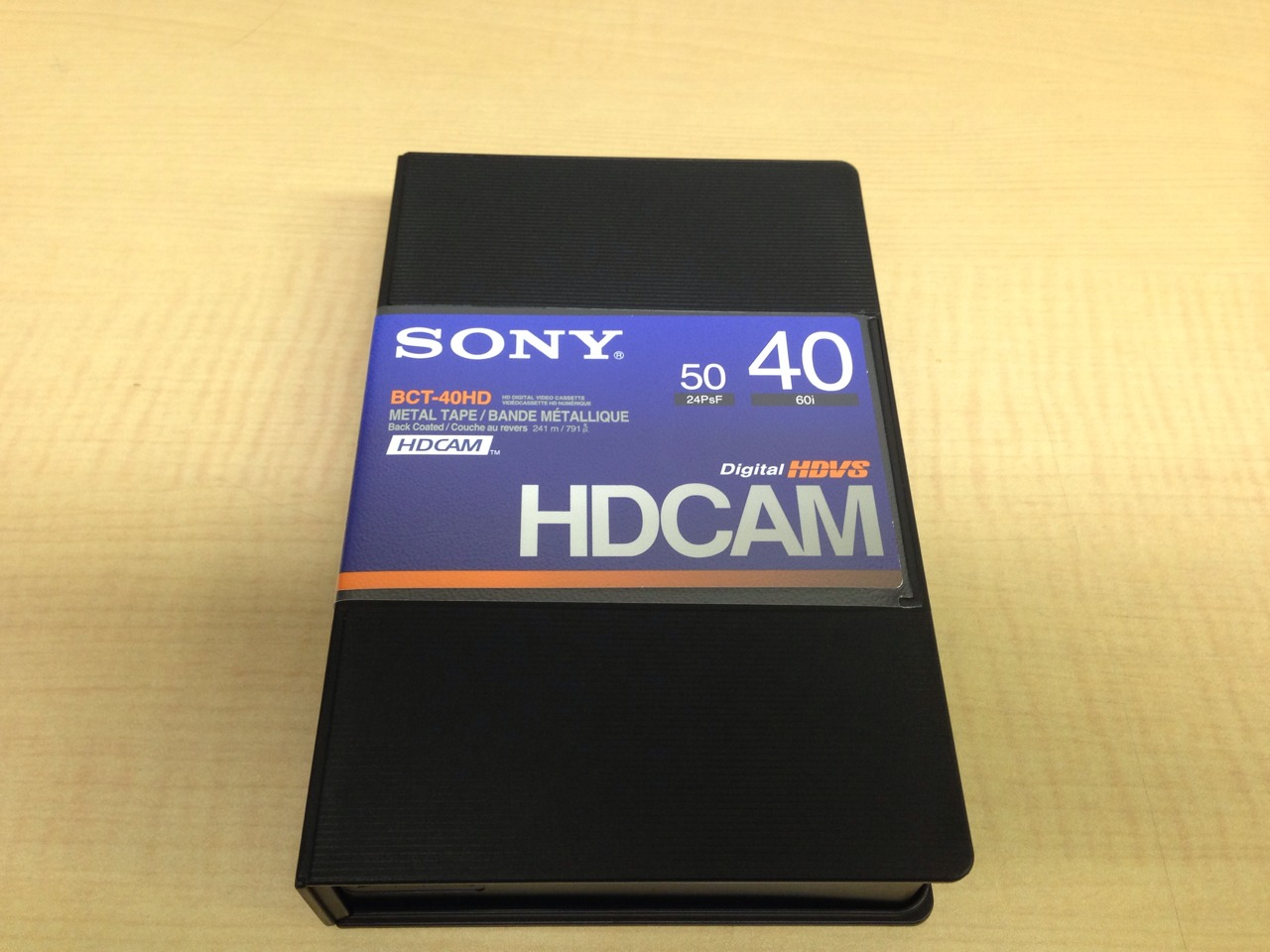 画像1: SONY/ソニー HDCAM スモールカセット40分 1本 (1)