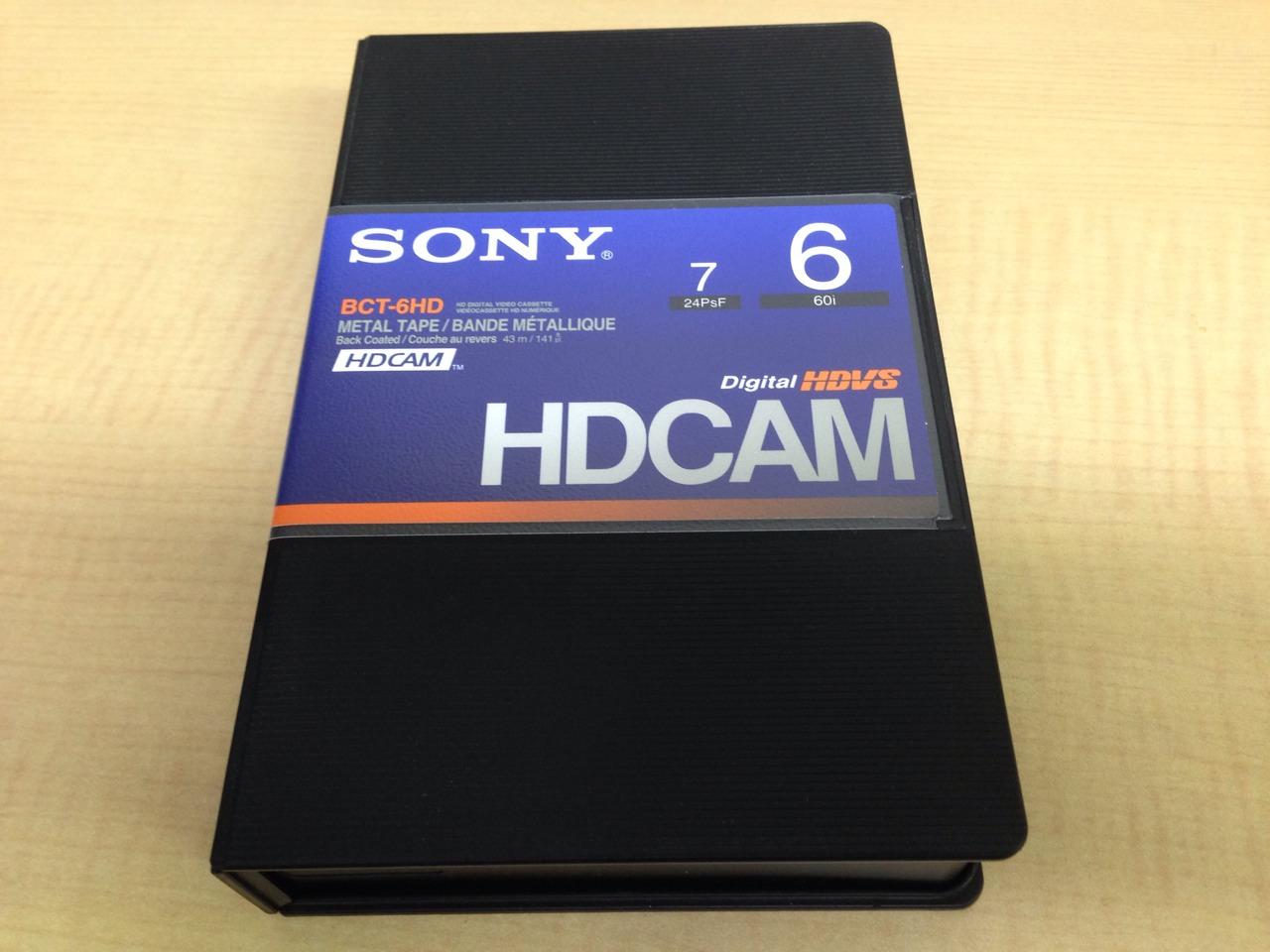 画像1: SONY/ソニー HDCAM スモールカセット6分 [BCT-6HD] 1本 (1)