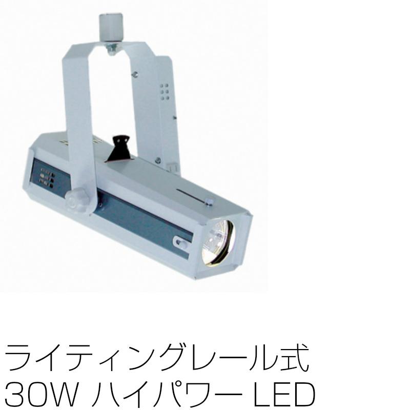 画像1: スポットライト LEDライティングレール式 30W LEDエコピンスポット 調光不可 NLE-9626W ホワイト (1)