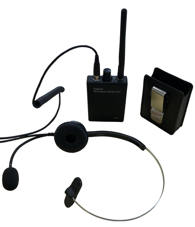 画像1: Ronk 無線機 デジタルワイヤレスインカムセット+対応ヘッドセット・ベルトクリップ付属 トランシーバー (1)