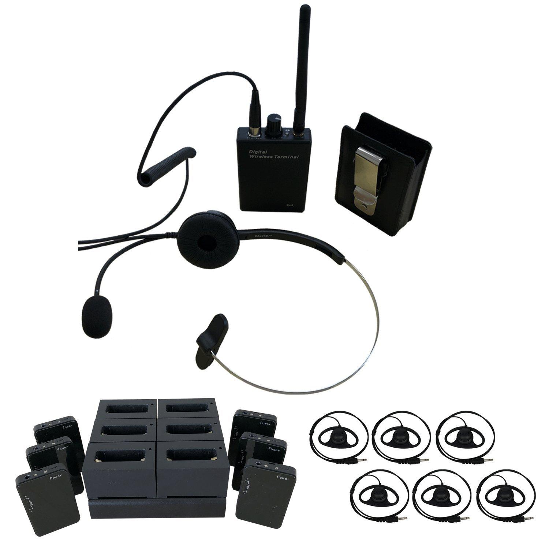 画像1: Ronk 無線機 デジタルワイヤレスガイドシステム06 【受信機6台+送信機1台+充電器1台セット】 (1)