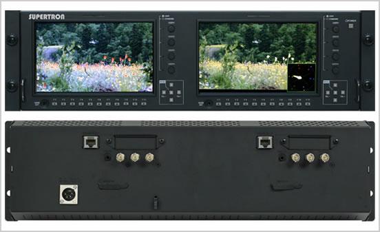 画像1: PROTECH/プロテック 3U 7インチ 2連モニター (1)
