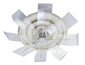 画像1: 節電グッズ  業務用エアコン風よけ&省エネ対策ハイブリッドファン ハーフクリア (1)