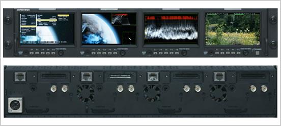 画像1: PROTECH/プロテック 2U 4.3インチ 4連モニター (1)