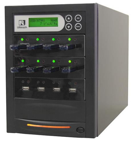 画像1: 写楽ミニ USBメモリーデュプリケーター USB写楽 11枚同時複製 (1)